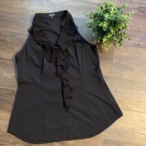 Express elite stretch sleeveless blouse